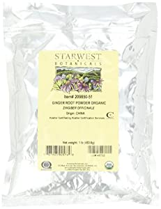 Starwest Botanicals Ginger Root Powder Organic, 1-Pound