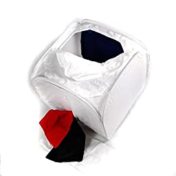 CowboyStudio Top Open 24-Inch Photo Soft Box Light Tent - 4 Chroma Key Backdrops