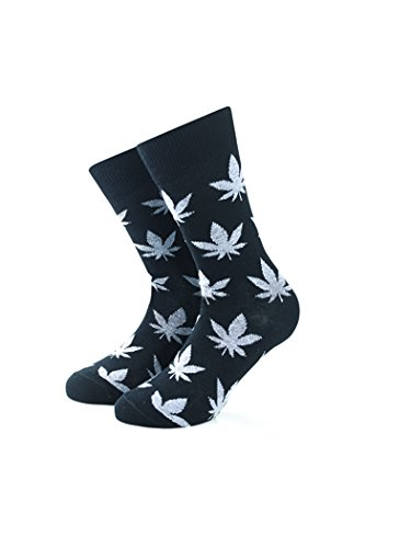Smart Living Outdoor Brf15s012 Calze Skater Unisex Weeda Smoke Marijuana Colore Black Taglia L-Xl