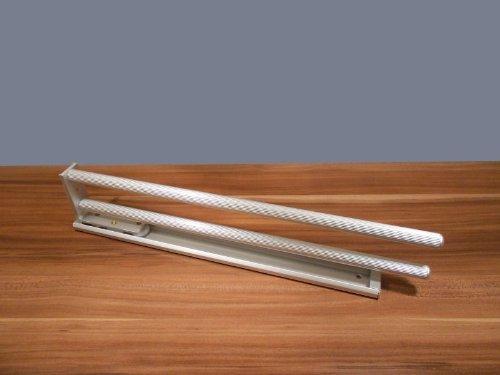 ausziehbarer handtuchhalter 2 armig drehbar 444 mm aluoptik handtuchstange handtuchauszug. Black Bedroom Furniture Sets. Home Design Ideas