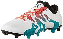 adidas Performance Women\'s X 15.2 FG/AG W Soccer Shoe,White/Shock Green/Black,5.5 M US