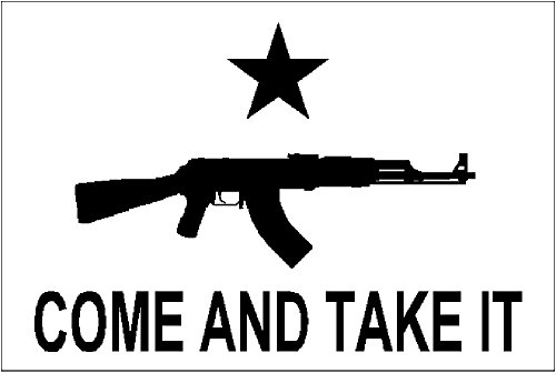 Mafco Ak-47 Come And Take It Flag 3 X 5 Foot Polyester Tea Party Rifle