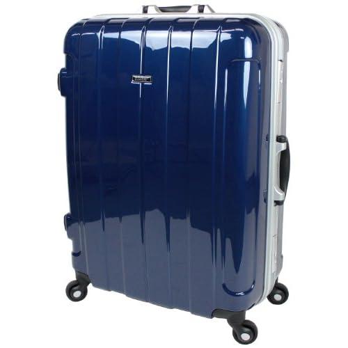 【SUCCESS サクセス】【スーツケース 中型 TSA搭載 プロライトPC2012 ~ Mサイズ中型(67cm)】【軽量フレームスーツケース 3泊~7泊用】旅行かばん キャリーバッグ キャリーケース 旅行かばん SUITCASE (中型(67cm), プレミアム・ブルー)