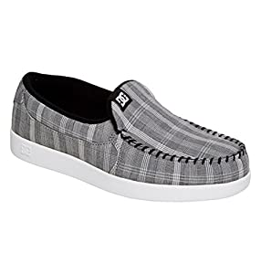 DC Men's Villain TX Slip-On Sneaker,Grey/Grey/White,12 M US