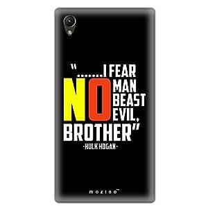 Mozine Hulk Hogan Slogan printed mobile back cover for Sony xperia z4