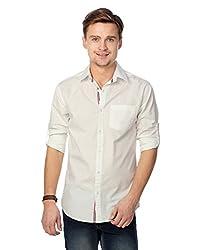 Entigue Men's Cotton Casual Shirt White_M