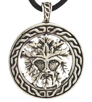 Celtic Greenman Amulet Pendant Necklace Charm Wicca Wiccan Pagan ...