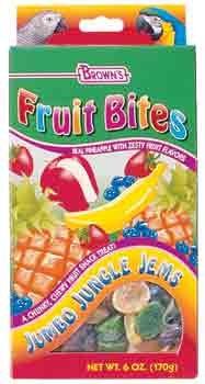 Cheap 2PK Fruit Bites Jumbo Jungle Jems Treats 6oz (Catalog Category: Bird / Small Hookbill Treats) (BBN51248)