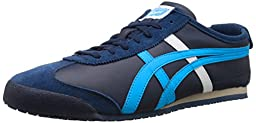 Onitsuka Tiger Mexico 66 Fashion Sneaker, Navy/Atomic Blue, 11.5 M Men\'s US/13 Women\'s M US