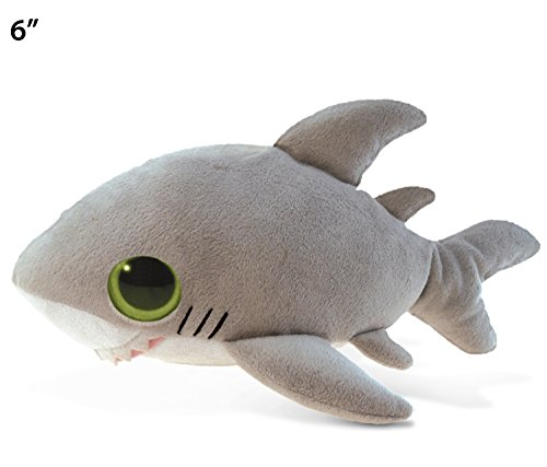 Puzzled Big Eye Shark Plush, 6""