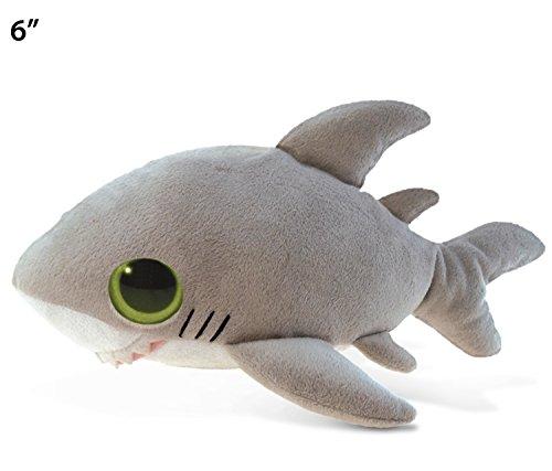 """Puzzled Big Eye Shark Plush, 6"""""""