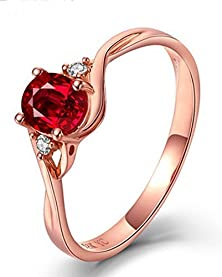 buy Perfect 1 Carat Oval Red Ruby And Diamond Trilogy Engagement Ring In Yellow Gold
