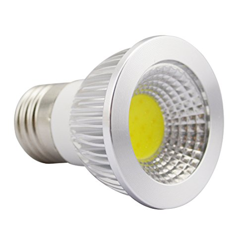 Grexistar 3W E27 Cob Led Spotlight Transparent Cover Sleek High Bright Cool White Light Bulb For Home House Lighting