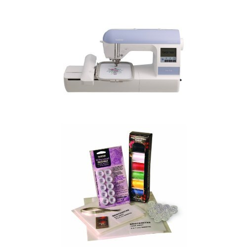 Brother PE770 Emrbroidery Machine and Embroidery Starter Kit Bundle (Brother Starter Embroidery Kit compare prices)