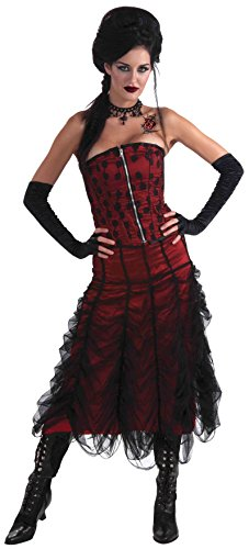 Forum Novelties Womens Gothic Couture Coffin Skirt, Red/Black, One Size