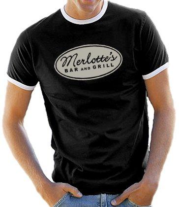 True Blood merlotte - con bordi a contrasto/T-Shirt S-XXL colori assortiti nero XXL
