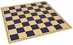 "The Chess Store Premium Vinyl Rollup Chess Board Blue - 2.25"" Squares"