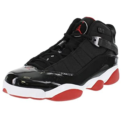 Air Jordan 6 Rings - Black/Varsity Red-White, 10 D US