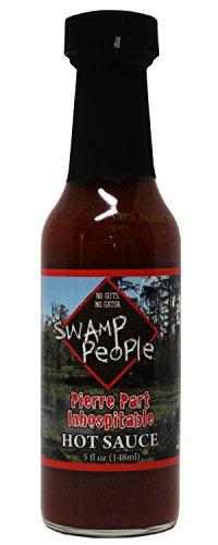 Swamp People Pierre Part Inhospitable Hot Sauce No Guts No Gator (Pierre Part Inhospitable Hot Sauce, 5 oz) (Georgia Peach Salsa compare prices)