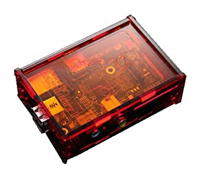 *NEW RELEASE* PCSL / Adafruit Tux Red / Orange - Case / Box / Enclosure for Raspberry Pi Computers - Tux Powered by Raspberry - Manufactured in the UK with permission by Adafruit Industries - Licensed Product - FREE Amazon UK Delivery