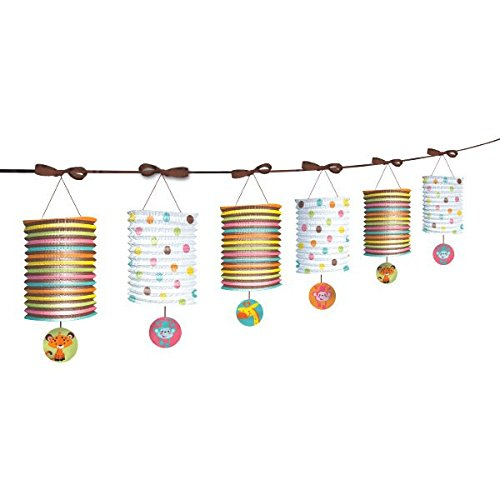 Amscan Adorable Fisher Price Baby Shower Party Decoration Paper Lantern Garland, 12', Brown/Orange/Pink/Blue/White (Animal Shower Decorations compare prices)