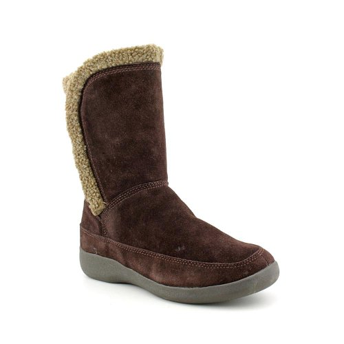 Easy Spirit Women's Warm Feet Booties in Brown