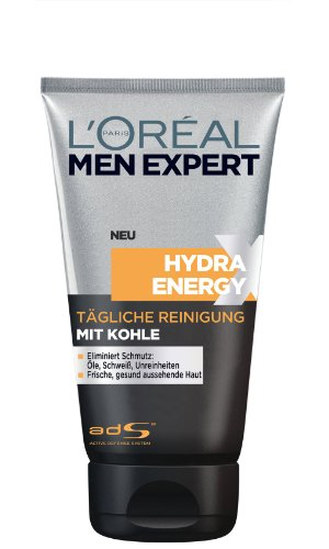 Günstige L'Oréal Paris Men Expert Hydra Energy Xtreme Reinigungsgel mit Kohle, 150 ml
