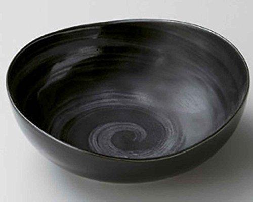 Brush Ginsai 17cm Moyen Bol Black porcelain Originale Japonaise