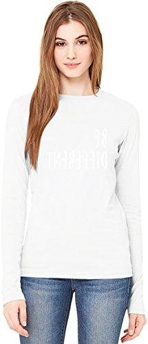Be Different T-Shirt da Donna a Maniche Lunghe Long-Sleeve T-shirt For Women| 100% Premium Cotton| DTG Printing| Medium
