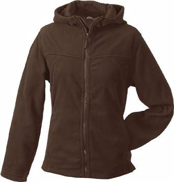 James & Nicholson Ladies Fit Micro Fleece Hoodie Jacket by James & Nicholson
