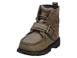 Polo by Ralph Lauren Toddler/Little Kid Ranger High Boot,Grey Leather,8 M US Toddler