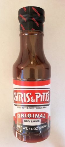 Chris' & Pitt's ORIGINAL Barbecue Sauce Best In The West Since 1949 BBQ 14oz.. (3 Pack) iwgl (Chris And Pitts Bbq Sauce compare prices)