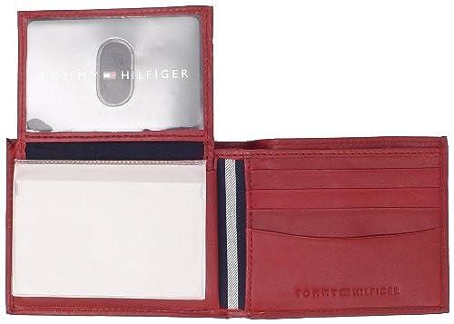 02. Tommy Hilfiger Men's Leather Dore Passcase Billfold Wallet