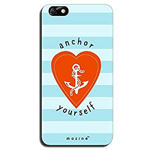 Mozine Anchor Yourself Printed Mobile Back Cover For Huawei Honor 4x