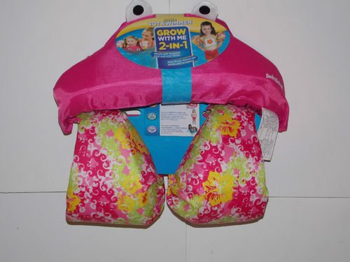Aqua Tot Swimmer Pink Vest & Floats For Girls 30-50 Lbs. front-401996