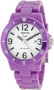 Invicta Women's 1216 Angel White Dial Purple Plastic Watch
