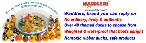 Rubber Ducks Family Party Rubber Duck, Waddlers Brand Toy Rubber Duck Squeaking and Tongue Blowing Party Celebration Fun, All Depts. Favor Gift New Year, Birthday, Baby Shower Christmas