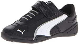 PUMA Tune Cat B 2 V Sneaker (Toddler/Little Kid/Big Kid),Black/White/Limestone Gray,13.5 M US Little Kid