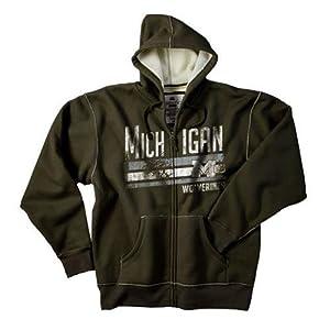 University of Michigan Wolverines Men's Hooded Dark Green Jacket