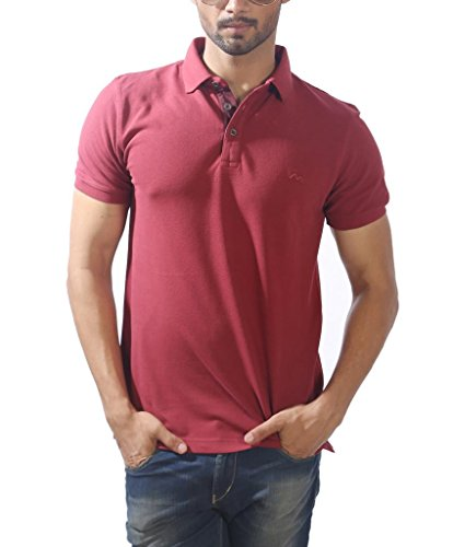 Masculino Latino Casual Brown T-shirts Polo for Men MLP302B-S