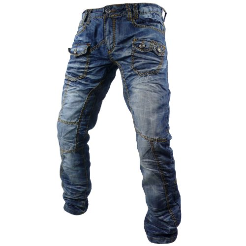 Kosmo Lupo K&M KM Metroit Mens Jeans itaian Denim brand premium luxury Designer Pants Trousers W38 / L32