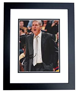 Jerry Sloan Autographed Hand Signed 8x10 Utah Jazz Photo - BLACK CUSTOM FRAME by Real Deal Memorabilia