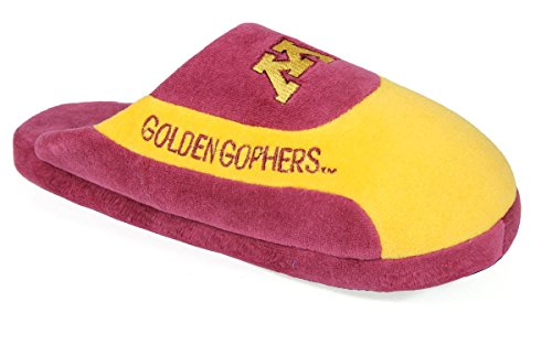 Happy Feet Mens and Womens Minnesota Golden Gophers - NCAA Low Pro Slippers - XL (Comfy Feet Slippers Minnesota compare prices)