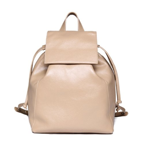 B00GXK5VU0 Iuha Women Traveler Leather Backpack-beige