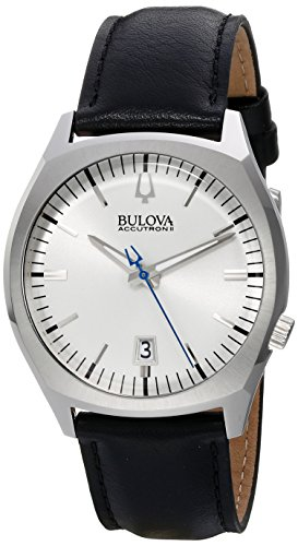 Bulova Accutron II Surveyor Black Leather Watch