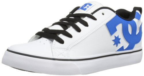 DC Shoes Mens Court Vulc M Shoe Low-Top 303181 White/Blue 8 UK, 42 EU