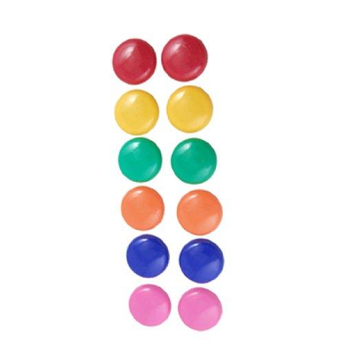 uxcell マグネット マグエックス マグネットカラーボタン ホワイトボードマグネットボタン  プラスチック製 円形 ダイヤ30mm 12個入り