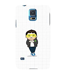 EPICCASE Cool Guy with goggles Mobile Back Case Cover For Samsung Galaxy S5 (Designer Case)