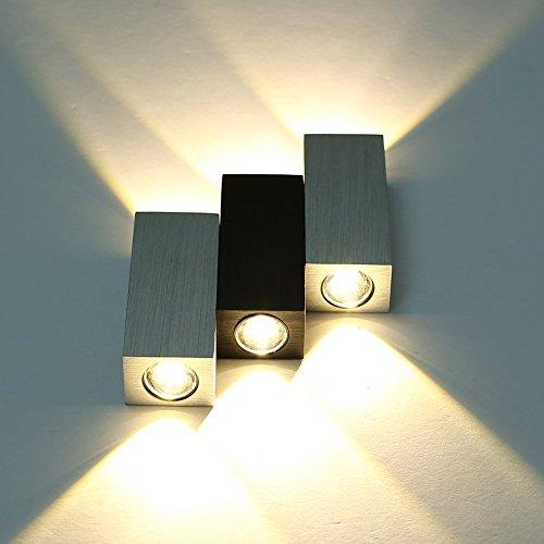 mvpower 6w led innenr ume wandleuchte warmwei 2800 kelvin 6 leds modern designerlampen. Black Bedroom Furniture Sets. Home Design Ideas