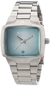 Nixon Damen-Armbanduhr Small Player Analog Quarz Edelstahl A3001231-00